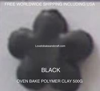 Polymer clay.  500g. Oven bake polymer clay, Black, figurine clay,  Free worldwide shipping